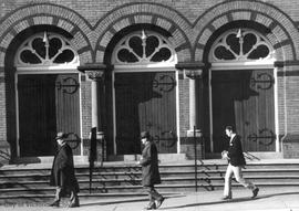 """Doors"" : street scene at St. Andrews Presbyterian Church on Douglas Street"