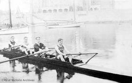 James Bay Athletic Association (J.B.A.A.) rowing team, winners lapstreak fours, Victoria Day