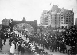 Parade to celebrate the coronation of King George V on June 22, 1911
