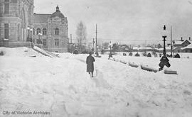 Parliament Buildings during the 'Great snow' of 1916